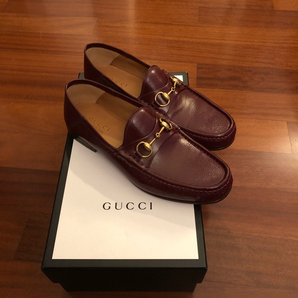 a6b95d794 Gucci Shoes | Horsebit Leather Loafer Size 95 Us Bordeaux | Poshmark